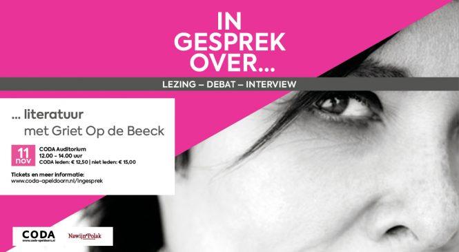 Griet Op de Beeck vertelt in CODA over de thema's in haar boeken en haar manier van werken