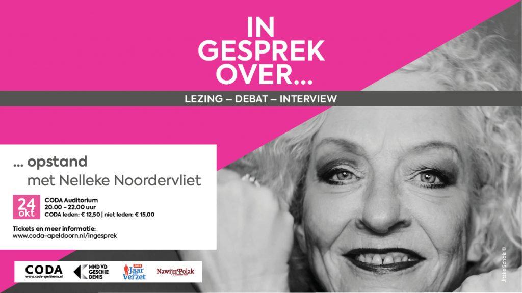 Nelleke Noordervliet woensdag 24 oktober in CODA