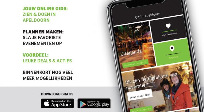 Nieuwe app 'Uit in Apeldoorn' al meer dan 1000 keer gedownload