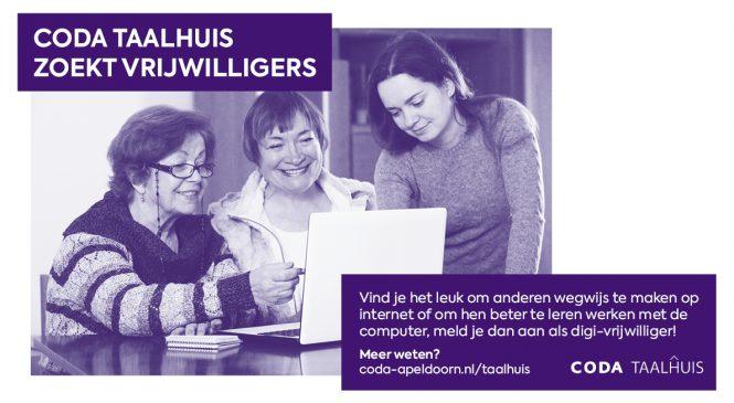 CODA Taalhuis zoekt vrijwilligers!