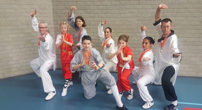 """Medaille winst op """"Golden Bridge 2019"""" voor Shaolin Kungfu Apeldoorn"""