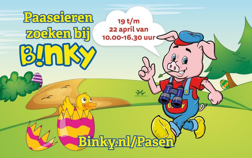 Kom paaseieren zoeken bij Binky!
