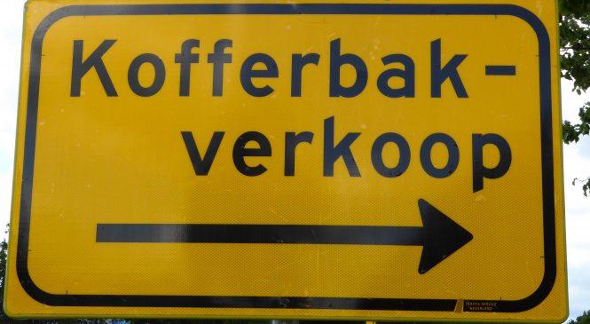 De enige echte kofferbakverkopen van Apeldoorn gaat weer van start