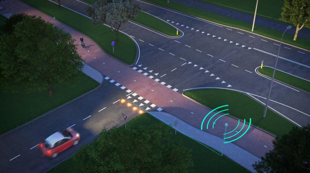 Inzet innovatief systeem verbetert verkeersveiligheid bij ingang Centraal Beheer