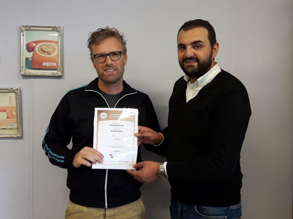 Nominatie TaalHeldenprijs 2020 voor Bas Schepers