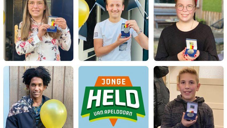 Vijf Apeldoornse jonge helden ontvangen Jeugdlintje